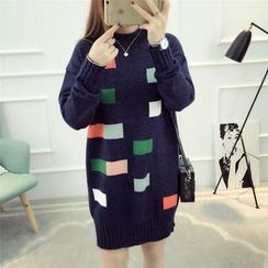 Dream Girl - Color Block Sweater Dress