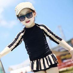 Aqua Wave - Kids Set: Printed Rashguard + Swim Skirt
