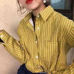 QZ Lady - Pinstriped Shirt