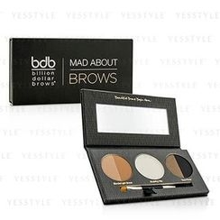 Billion Dollar Brows - Mad About Brows Palette: 2x Brow Powder + 1x Sculpting Wax + 1x Mini Brow Brush