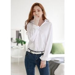 J-ANN - Long-Sleeve Loose-Fit Shirt