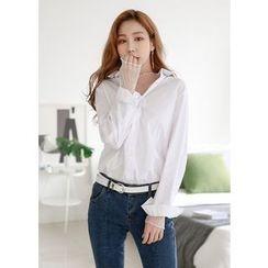 J-ANN - Long-Sleeve Loose-Fit Shirt