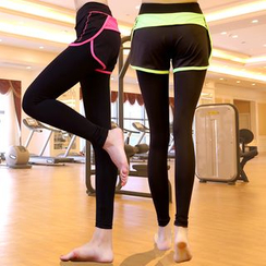 Girasol - Inset Shorts Workout Leggings