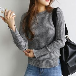 NANING9 - Crewneck Ribbed Sweater