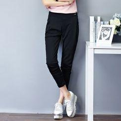 Yumerakka - Slim-Fit Elastic-Waist Harem Pants