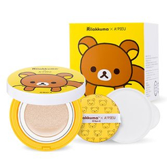 A'PIEU - Air-Fit Cushion XP Set (Rilakkuma Edition) SPF50+ PA+++ (#21): Cushion + Cushion Refill Only + Air In Puff 1pc