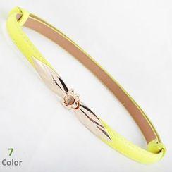 Goldenrod - Flower Buckle Slim Belt