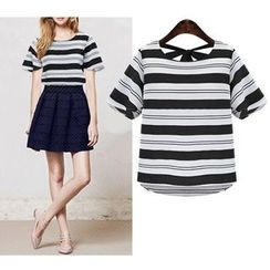 Flobo - Short-Sleeve Striped Top