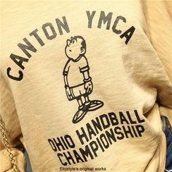 Elfina - Cartoon Print Long Sleeve T-Shirt
