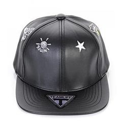 deepstyle - Faux Leather Embroidered Cap