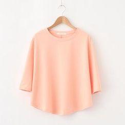 LEMONADE - 3/4-Sleeve Plain T-Shirt