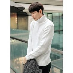 GERIO - Turtle-Neck Plain Sweater