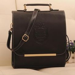 Miss Sweety - Faux-Leather Flap Backpack