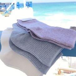 YUKISHU - Ribbed Knit Socks