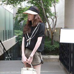 NIPONJJUYA - Pleat-Collar Chiffon Top