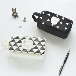 Cutie Bazaar - Patterned Canvas Pencil Case