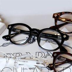UnaHome Glasses - Cross Accent Round Glasses