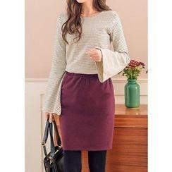 J-ANN - Elastic-Waist Skirt