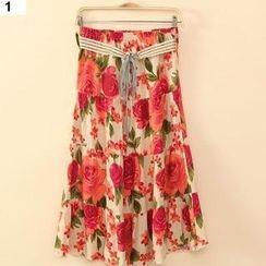 Flower Idea - Floral Maxi Skirt