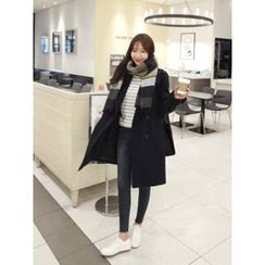 hellopeco - Wool Blend Buttoned Coat