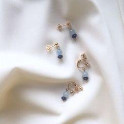 Momi K - Gemstone Drop Earrings / Clip-On Earrings