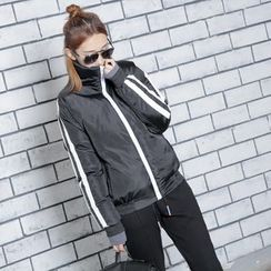 Sonne - Couple Color-Block Padded Jacket