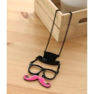 Petit et Belle - Top Hat, Glasses & Moustache Necklace