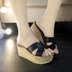 Hannah - 真皮厚底涼鞋