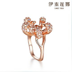 Italina - Swarovski Elements Crystal Flower Ring