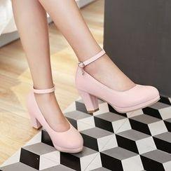 Pretty in Boots - Block Heel Pumps
