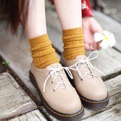 Socka - 抽条保暖羊毛中筒袜