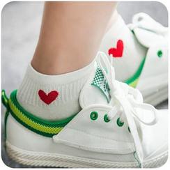 默默爱 - 爱心短袜