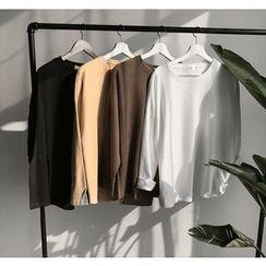 Bestrooy - Plain Long-Sleeve T-Shirt