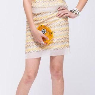 I-DOU - Sequined Pencil Skirt