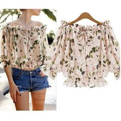 LIVA GIRL - Off-Shoulder Floral Top
