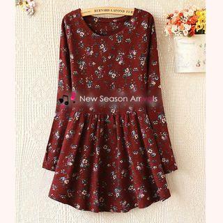 Ringnor - Long-Sleeved Floral Dress