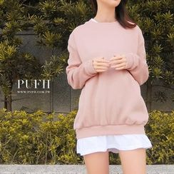 PUFII - Mock Two-Piece Sweatshirt
