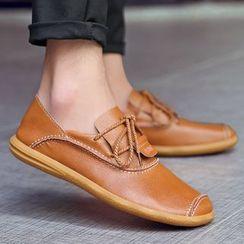 MARTUCCI - Genuine-Leather Lace-Up Deck Shoes