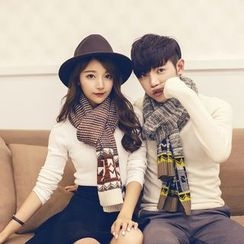Fireon - Couple Matching Patterned Knit Scarf