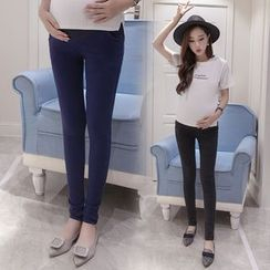 The Mommy Club - Maternity Fleece Lined Jeggings