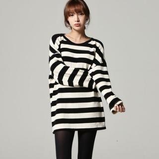 SARAH - Drop-Shoulder Stripe Tunic