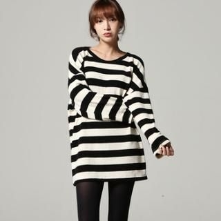 SARAH - Drop-Shoulder Stripe Tunic