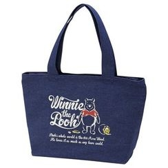 Skater - Winnie the Pooh Denim Tote Lunch Bag