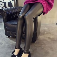 Sugar Town - Faux Leather Leggings