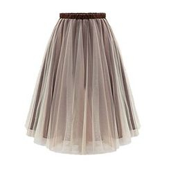 LIVA GIRL - Pleated Mesh Panel Maxi Skirt