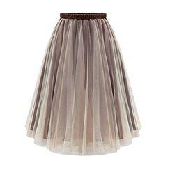LIVA GIRL - Pleated Mesh Panel Maxi Skirt