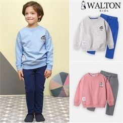WALTON kids - Kids Set: Printed Sweatshirt + Sweatpants