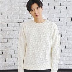MITOSHOP - Crew-Neck Knit Top