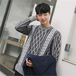 STYLEMAN - Wool-Blend Patterned Sweater