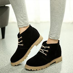 SouthBay Shoes - Faux Suede Lace-Up Shoes